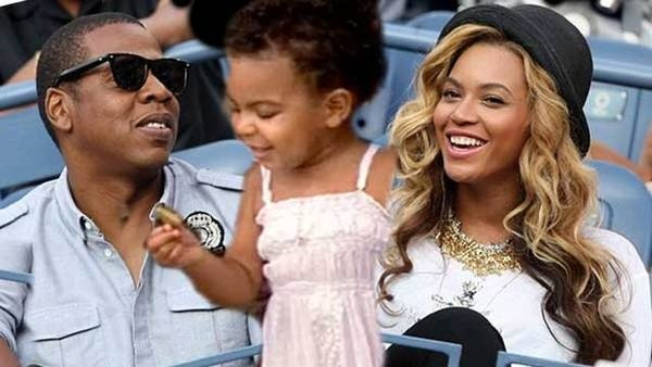 Jay Z Blue and Beyonce