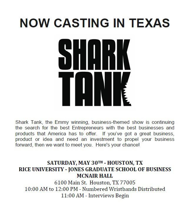 ABC's Shark Tank Open Cast Call