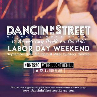 Motown Dancin' In the Streets Miller Outdoor Theatre