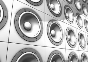 Audio speakers (Digitally Generated Image)
