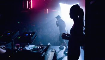 Performers on stage at nightclub