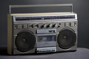 Retro analog boom box