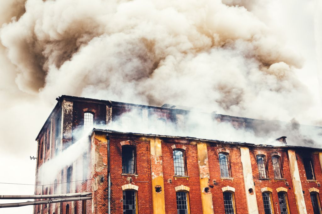 Fire In An Old Building