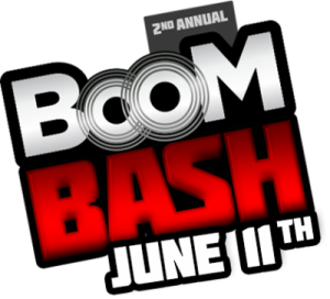 Second Annual Boom Bash header logo