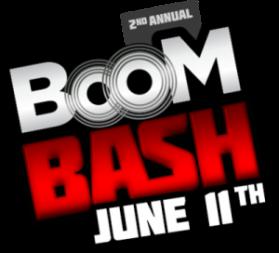 Second Annual Boom Bash header logo
