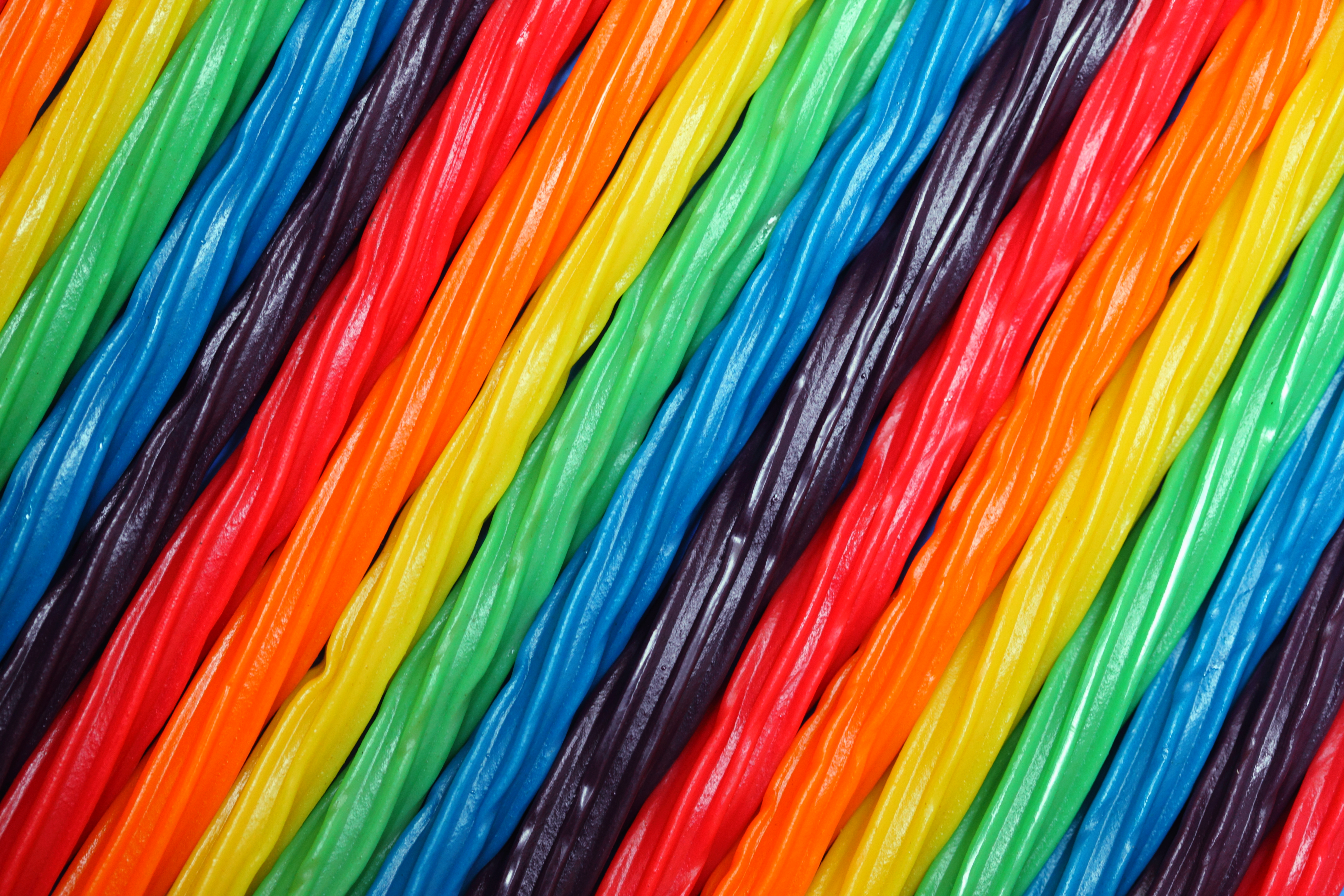 Colorful rainbow soft licorice candy