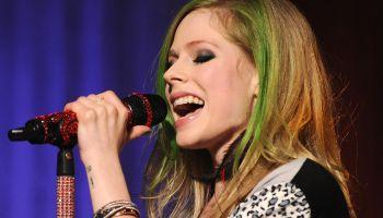 Avril Lavigne Performs In AOL's Los Angeles Studio
