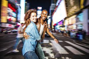Couple New York city lifestyle