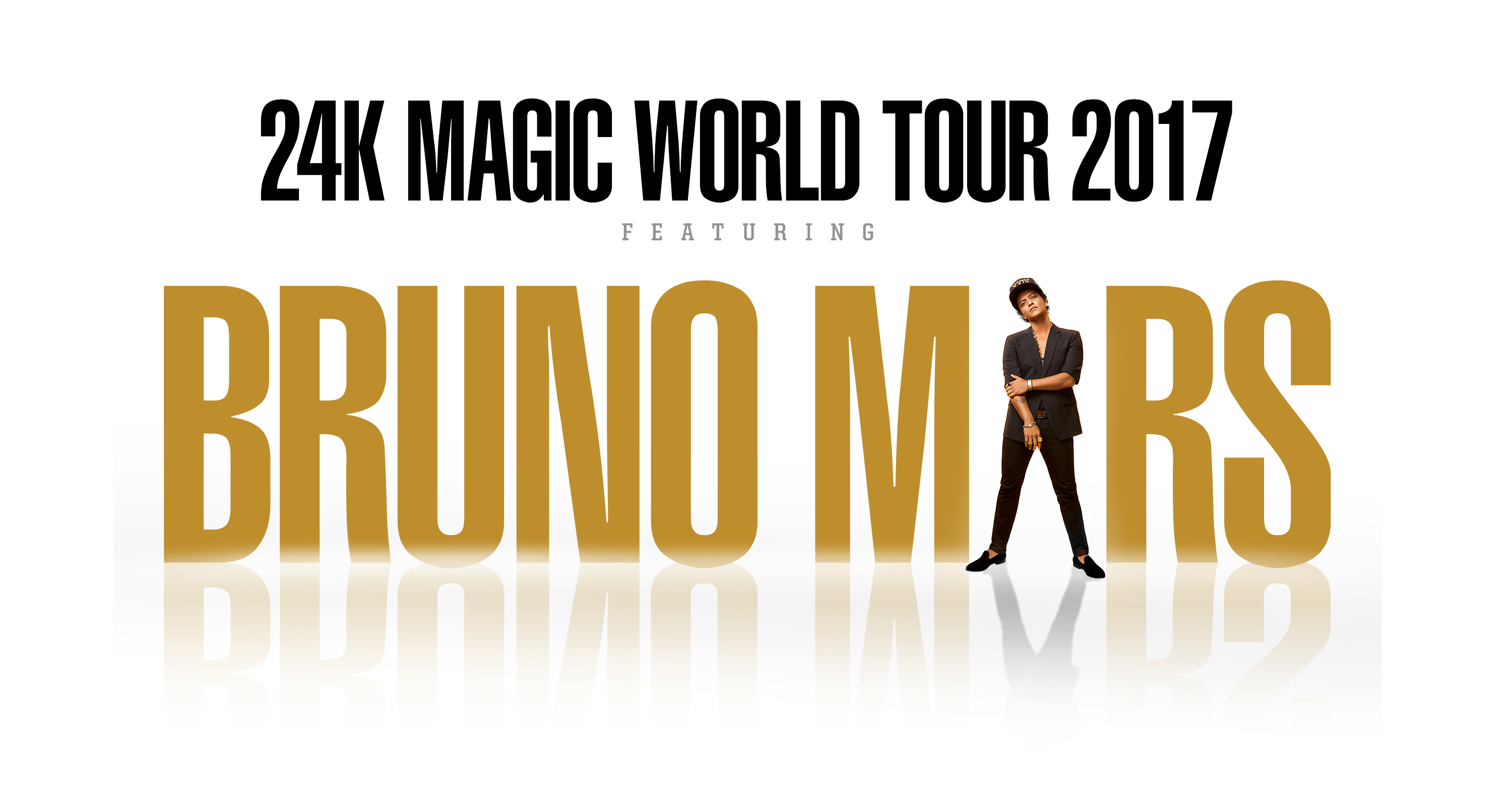 Bruno Mars 24K Magic World Tour Graphic