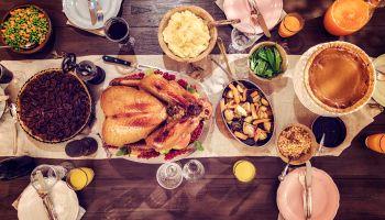 Traditional Holiday Stuffed Turkey Dinner
