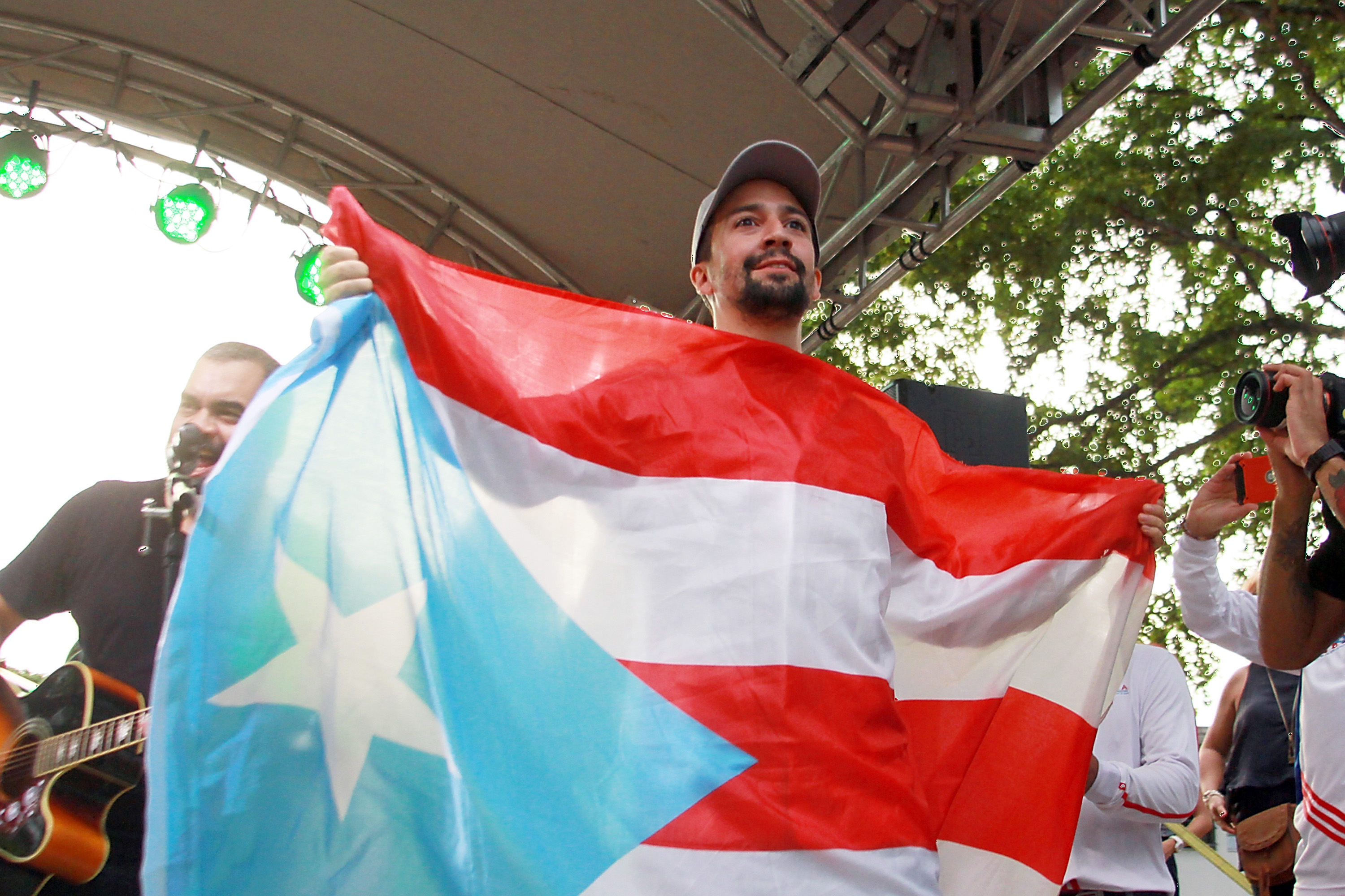 Lin Manuel Miranda Holds Event In Home Country Of Puerto Rico