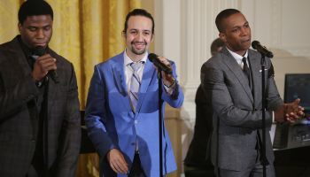 Michelle Obama Hosts Cast Of Broadway's 'Hamilton' At The White House