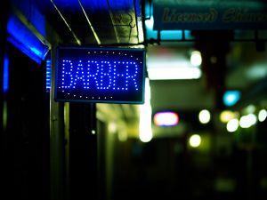 Close-Up Of Road Sign At Night
