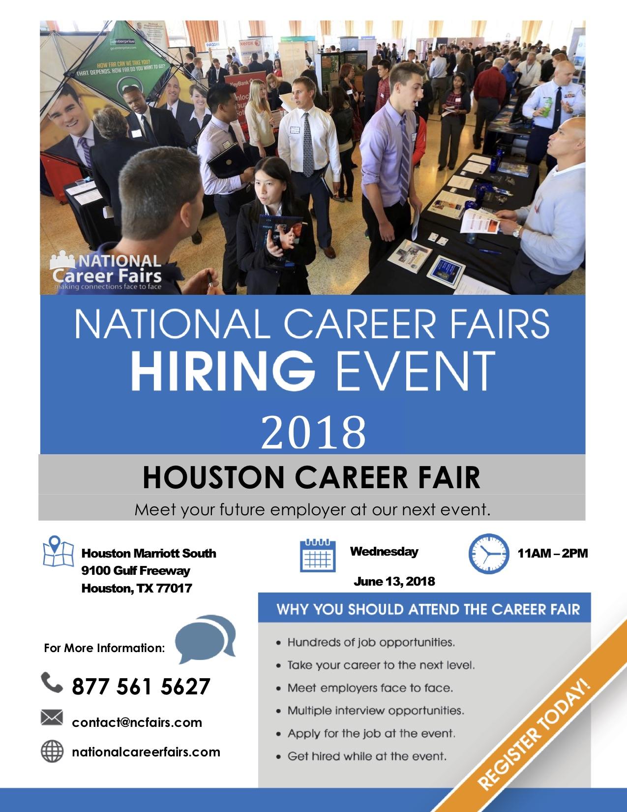 National Career Fairs Hiring Event 2018