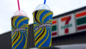 An illustration of Two, 7-Eleven Slurpee