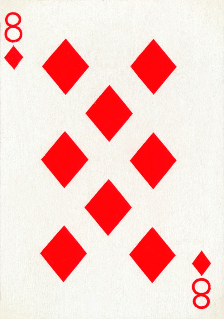 8 of Diamonds from a deck of Goodall & Son Ltd