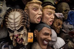Masks of Donald Trump for sale in Mexico City