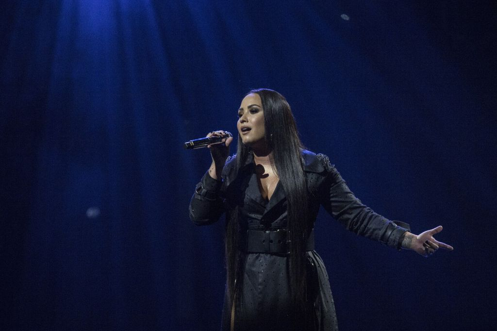 Demi Lovato performs at London's O2 Arena