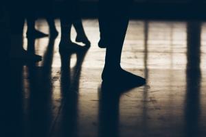 Low Section Of Ballet Dancer Practicing In Studio