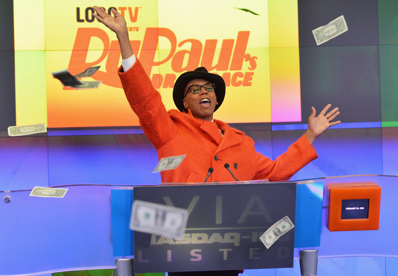 Viacom Inc And Logo TV's 'RuPaul's Drag Race' Ring The NASDAQ Stock Market Closing Bell