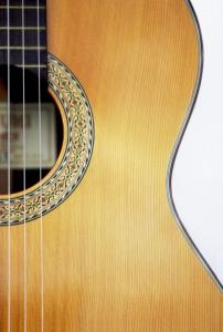 Close-up of acoustic guitar