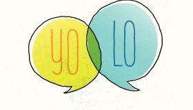 Hipster Slang Yolo Text Space Doodle Speech Bubble Alphabet