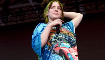 Billie Eilish performing at Milano Rock in Milan, Italy