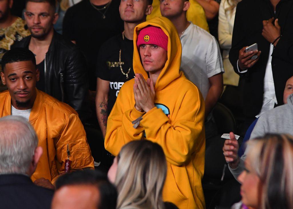 Justin Bieber Attends Logan Paul Vs KSI
