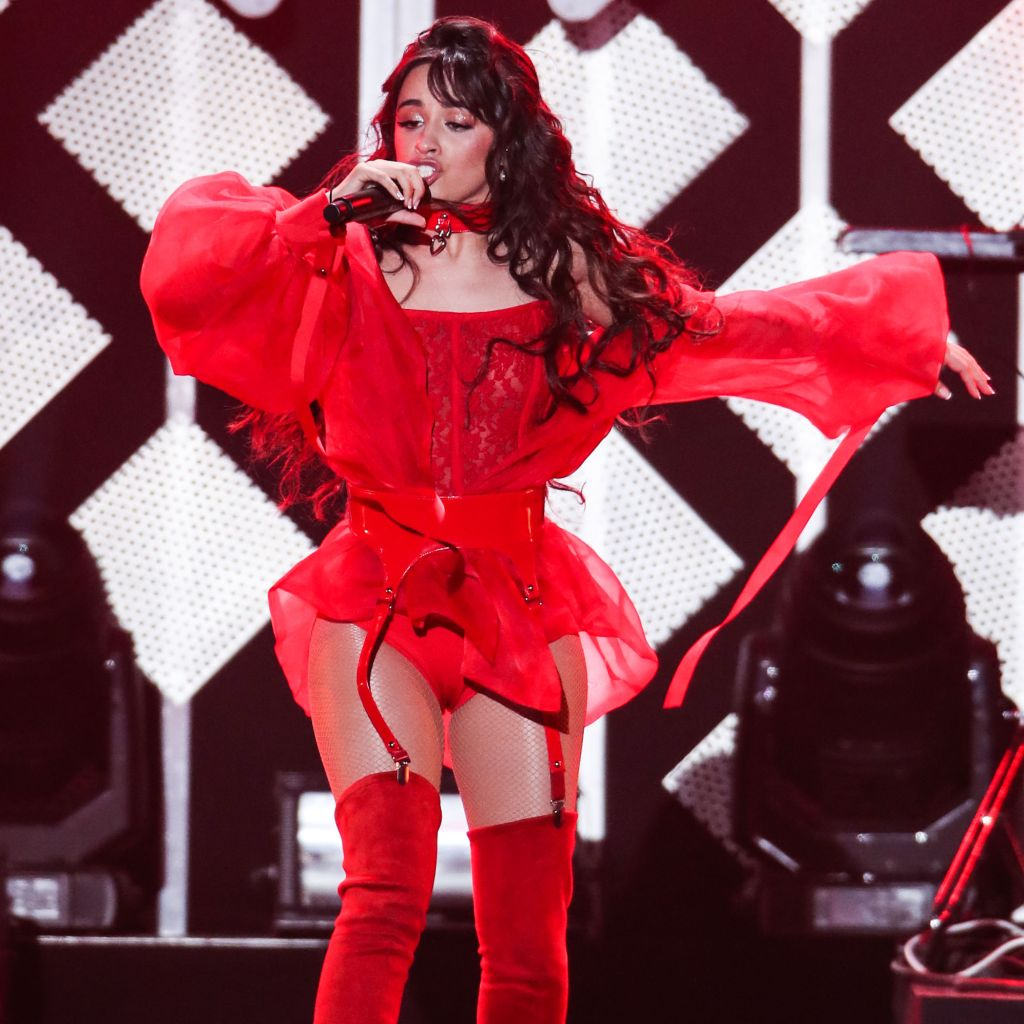 Singer Camila Cabello performs at 102.7 KIIS FM's Jingle Ball 2019 held at The Forum on December 6, 2019 in Inglewood, Los Angeles, California, United States.