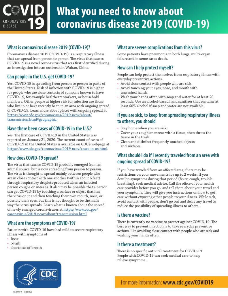 Coronavirus What You Need To Know